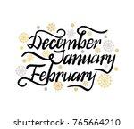 december january february... | Shutterstock .eps vector #765664210
