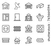 thin line icon set   warehouse  ...   Shutterstock .eps vector #765664594