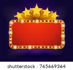 retro banner cinema style with... | Shutterstock .eps vector #765669364