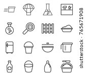Thin Line Icon Set   Delivery ...