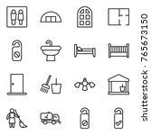thin line icon set   wc ... | Shutterstock .eps vector #765673150