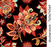 beautiful seamless decorative... | Shutterstock .eps vector #765674569