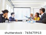business team in strategy... | Shutterstock . vector #765675913