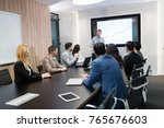 picture of business meeting in... | Shutterstock . vector #765676603