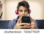child  teenager or preteen with ... | Shutterstock . vector #765677029