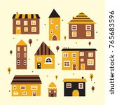 house collection vector | Shutterstock .eps vector #765683596