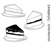 set hand drawn doodle piece of... | Shutterstock .eps vector #765688663