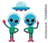 vector illustration of aliens...   Shutterstock .eps vector #765688963