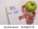 bmi body mass index formula... | Shutterstock . vector #765689278