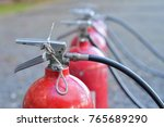 fire extinguisher for test | Shutterstock . vector #765689290
