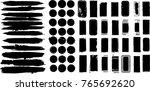 grunge design elements . brush... | Shutterstock .eps vector #765692620