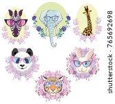 african animals set  vector ...   Shutterstock .eps vector #765692698