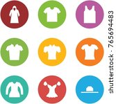 origami corner style icon set   ... | Shutterstock .eps vector #765694483