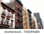 new york city residential... | Shutterstock . vector #765694684