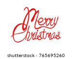 cool merry christmas | Shutterstock .eps vector #765695260