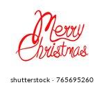 cool merry christmas | Shutterstock .eps vector #765695260