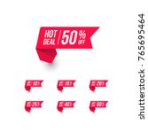 hot deal shopping price tag | Shutterstock .eps vector #765695464