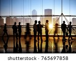 busy business people walking | Shutterstock . vector #765697858