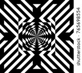 illusive tile with black white... | Shutterstock .eps vector #765698554