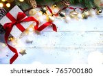 christmas holidays composition... | Shutterstock . vector #765700180