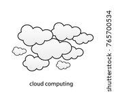 cloud computing or social... | Shutterstock .eps vector #765700534