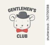 gentlemen club. graphic for kid'... | Shutterstock .eps vector #765700588