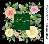 rose love card.illustration... | Shutterstock .eps vector #765700918