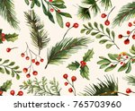 holiday greeting cards  retro... | Shutterstock .eps vector #765703960