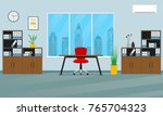 office interior concept. modern ... | Shutterstock .eps vector #765704323