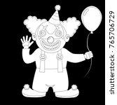 a cute halloween costume. a boy ...   Shutterstock .eps vector #765706729
