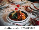 traditional georgian dish... | Shutterstock . vector #765708070