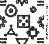 tribal embroidery with ethnic... | Shutterstock .eps vector #765708430