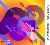 fluid color background. liquid... | Shutterstock .eps vector #765712648