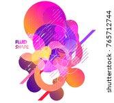 fluid color background. liquid... | Shutterstock .eps vector #765712744