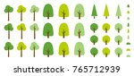 vector color cartoon flat style ... | Shutterstock .eps vector #765712939