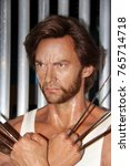 Small photo of London, - United Kingdom, 08, July 2014. Madame Tussauds in London. Waxwork statue of Wolverine, Created by Madam Tussauds in 1884, Madam Tussauds is a waxwork museum and tourist attraction.