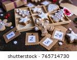 homemade gingerbread cookies... | Shutterstock . vector #765714730