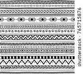 seamless ethnic pattern. black... | Shutterstock .eps vector #765715876