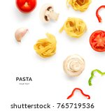 seamless pattern with pasta ... | Shutterstock . vector #765719536