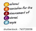 naacp   national association...   Shutterstock .eps vector #765720058