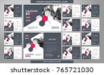 desk calendar 2018 template  ... | Shutterstock .eps vector #765721030