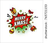 comic speech bubble with... | Shutterstock .eps vector #765721153