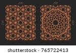 laser cutting set. woodcut... | Shutterstock .eps vector #765722413