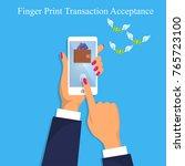 vector illustration of finger... | Shutterstock .eps vector #765723100