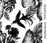 fashion print. watercolor... | Shutterstock . vector #765724540