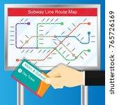 subway metro bus railway ticket ...   Shutterstock .eps vector #765726169