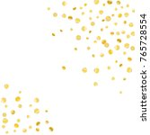golden confetti on a white... | Shutterstock .eps vector #765728554