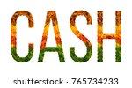 cash word is written with... | Shutterstock . vector #765734233