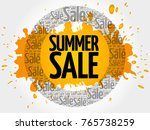 summer sale words cloud ... | Shutterstock . vector #765738259