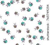 seamless bugs cartoon pattern.... | Shutterstock .eps vector #765749254